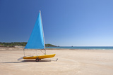 Dinghy on the Sand at St Brelades Beach on the South Coast of Jersey, Channel Islands Photographic Print by David Clapp