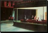 Nighthawks, Noctambules ou Les oiseaux de nuit, 1942 Framed Print Mount par Edward Hopper
