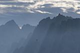 View from Pordoi Pass, Dolomites, South Tyrol, Trentino-Alto Adige, Italy Photographic Print by Martin Ruegner