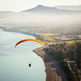 Paragliding off Killiney Hill Photographic Print by David Soanes Photography