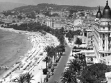Beachfront at Cannes Photographic Print by Getty Images