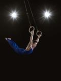 Male Gymnast on Rings Fotografisk trykk av Mike Harrington