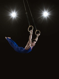 Male Gymnast on Rings Photographic Print by Mike Harrington