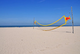 Volleyball Net on Beach Photographic Print by  leuntje