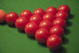 Racked Snooker Balls on a Pool Table Photographic Print by Tobias Titz