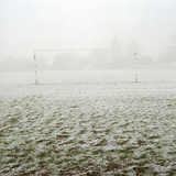 Soccer Goal in Frosty Field Photographic Print by Laurie Castelli