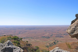 View of the Valley between Two Moutain Peaks, Isalo Park, Madagascar, Panoramique Photographic Print by  tompozzo