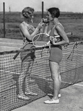 Lighting up after A Tennis Match Reproduction photographique par  FPG