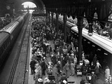 Crowded Platforms Photographic Print by E. Bacon