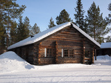 Lapland Log Cabin Photographic Print by  pljvv