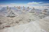Piles of Salt on the Surface of the Salar De Uyuni Salt Lake, Bolivia Photographic Print by  zanskar