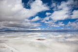 VIEW OF FLOODED UYUNI SALT FLAT IN BOLIVIA Photographic Print by Justin Lambert