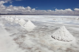 Piles of Salt on the Surface of the Salar De Uyuni Salt Lake, Bolivia Prints by  zanskar
