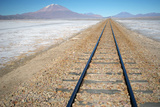 Train Tracks in Desert Photographic Print by Photography by Jessie Reeder