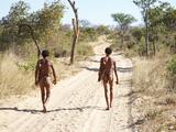 Bushmen Hunters, Kalahari Desert, Namibia Photographic Print by  DmitryP
