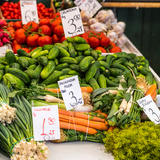 Vegetables for Sale at Local Market in Poland. Photographic Print by Curioso Travel Photography