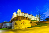 Wawel Hill by Night - Krakow Posters by Jorg Hackemann