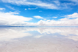 Lake Salar De Uyuni with a Thin Layer of Water Photographic Print by  DmitryBurlakov