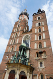 Mariacki Church - Famous Gothic Church Krakow at Main Market Square, Poland Photographic Print by  kaetana