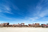 Abandoned Train Engines Photographic Print by  jkraft5