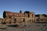 Old Rusty Steam Engine Photographic Print by Achim Baque