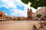 Beautiful Saint Mary's Basilica and Rynek Glowny Photographic Print by  SerrNovik