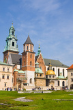 View of the Beautiful Saint Stanislas Cathedral at Wawel Castle, Krakow, Poland, Viewed from Behind Posters by  dziewul