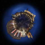 Krakow Old Town Main Market Square at Night, 360 Degree Miniplanet (Elements of This Image Furnishe Photographic Print by  Ints