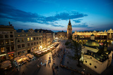Krakow Market Square, Poland Photographic Print by  Zarnell