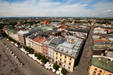 View of the Old Town of Cracow, Old Sukiennice in Poland. (World Heritage Site by Unesco) Photographic Print by De Visu