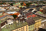 Bird's-Eye View of the Old Town of Kracow, Poland. Photographic Print by De Visu
