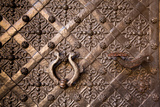 Old Door with Ornament in Royal Wawel Castle, Kracow, Poland. Photographic Print by De Visu
