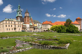 Panorama of Wawel Castle in Krakow, Poland Photographic Print by  victoo