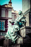 Krakow - Fragments of the Monument of Adam Mickiewicz. Photographic Print by Curioso Travel Photography