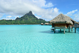 Luxury Overwater Vacation Resort on Bora Bora Photographic Print by  pljvv