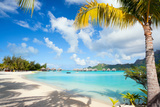 Beautiful Beach on Bora Bora Island in French Polynesia Photographic Print by BlueOrange Studio