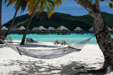 Hammock on Bora Bora Beach Photographic Print by  Woolfy