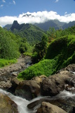 Tahiti Mountains Photographic Print by  rafcha