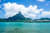 Overwater Bungalows in South Pacific Photographic Print by  Maie