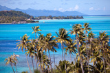 Azure Lagoon of Island Borabora Polynesia. Photographic Print by  Konstik