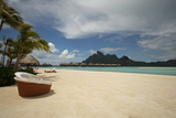 Beach View of Bora-Bora Photographic Print by Kevin Gibbons