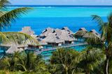 Azure Lagoon of Island Bora Bora Polynesia. Photographic Print by  Konstik