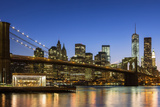 Manhattan and Brooklyn Bridge at Dusk Photographic Print by Sylvain Sonnet