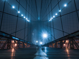 Brooklyn Bridge in Fog Photographic Print by Maria Swärd