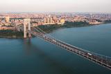 George Washington Bridge Aerial Photographic Print by Keith Sherwood