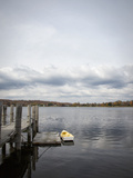 Rowboat and Pier, Mystic Harbour Photographic Print by Elisabeth Pollaert Smith
