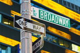 Broadway Sign in Time Square, New York Photographic Print by Sylvain Sonnet