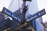 Usa, New York State, New York City, Low Angle View of Street Name Sign Photographic Print by  Fotog