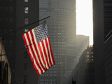 American Flag in New York City Photographic Print by John Manno