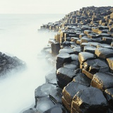 Fog at Basalt Columns of Giants Causeway Photographic Print by Micha Pawlitzki